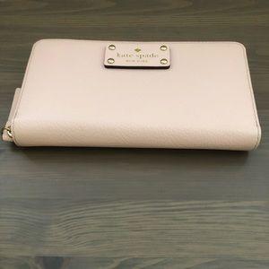 kate spade Bags - Kate Spade Wellesley Neda Pink Zip Wallet/Clutch